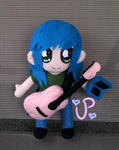 As my Pink Guitar Gently Weeps by UltraPancake
