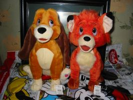 Fox and the Hound Plush 02 by Rika24
