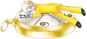 Sleeping On The Clock by LudiculousPegasus