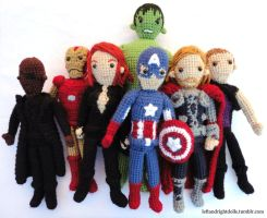 Avengers Assemble! by leftandrightdolls