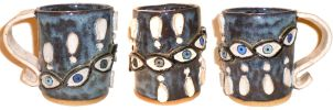 Eye Cup #26 With Exclamation Points by aberrantceramics