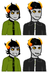 Talksprites of Caesar and Kerris by MattSteeletheVamp