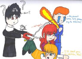 Red-head Magnet by HieiBabyGirl