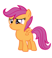 Scootaloo - Scootasad by Nyax