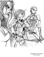 Elements- Cerridwen, Kat and Amber by ElementJax