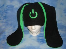 Power Symbol Bunny Hat- Green by HatcoreHats