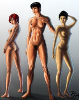 Girls of the Galaxy (nude study) by philorion7