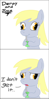 Derpy and Juice by aruigus808