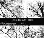 Corners with Birds - set 2 by Lileya