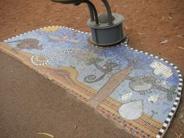 Water fountain Mosaic by TasermonsPartner