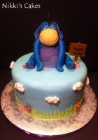 Eeyore Birthday Cake by Corpse-Queen