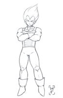 Vegeta - Prince of all Saiyans by WolFadeArt