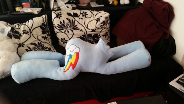 Giant Rainbow Dash plush WIP by AlayasYazoo