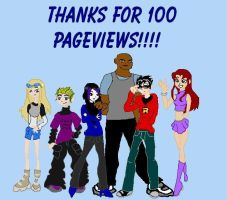 Thanks for 100 pageviews by WheeeSplat