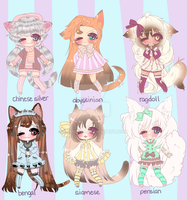 KITTY ADOPTABLES CLOSED by Lolisoup