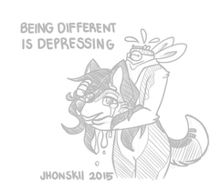 Being Different Is Depressing by Jhonskii