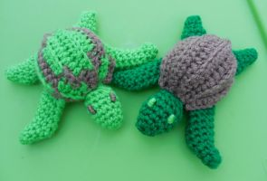 Turtle brothers by crochetamommy