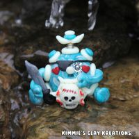 Polymer Clay Robot I Love Pirates Figurine by KIMMIESCLAYKREATIONS