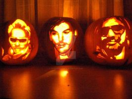30 Seconds to Mars Pumpkins by canuhandleme78