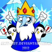 Adventure Time - Ice King by amy-art