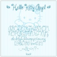 Hello Kitty Angel Font by ShoriAmeshiko