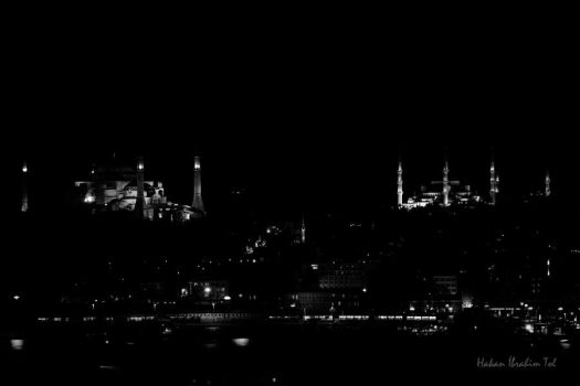 Night Silhouette of Eminonu by WorldsInWorld
