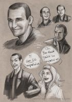 Sketchdump: Ninth Doctor Edition by Pretty-Angel