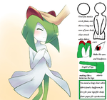 Kirlia(mascotte)_made by chris g. by Specialwater7