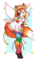 Rainbow Fire Fox Princess by SeiReTSYM