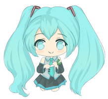 Chibi Miku~ by iekika-bp