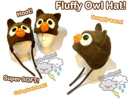 Fluffy Owl Hats by The-Cute-Storm