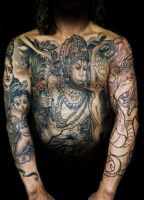 hindu gods by tattooneos