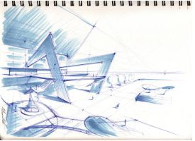 architectural sketch 2 by Mihaio