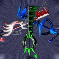 my keyblades by Urbatin