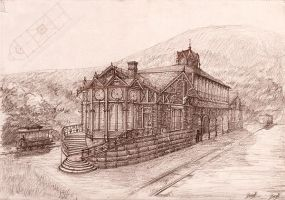 Old Station at Grove Corner by PrinceBooth