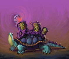 Turtle family by ClownDomain