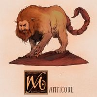 M is for Manticore by Deimos-Remus