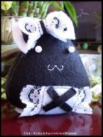 Gothic Lolita Rice Ball by Kitty-Sprinkles