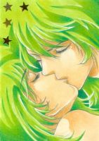 Green Kiss - LBM by m-u-ll-e