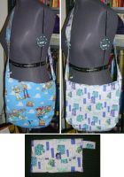 Toy Story and Monsters Inc Bag by NeitherSparky