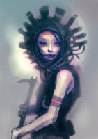 speed painted tribal girl by torvenius