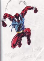 Scarlet Spider color by hdub7