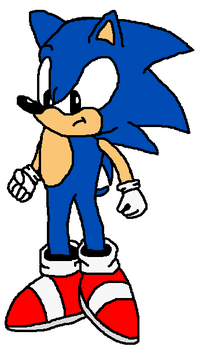 Sonic Paint Drawing: -No Ref- by JimmyHedgehog