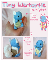 Micro Wartortle Pokemon plushie! by scilk