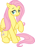 Fluttershy Blush by Dembai