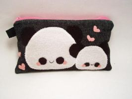 Pudding Panda Pencil Case by quacked