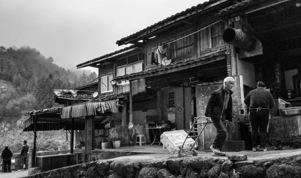Village life, somewhere in rural China by airsteve