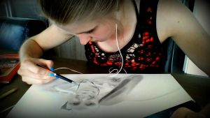 Me drawing .. by Monique-Art