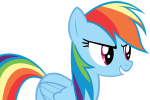 Rainbow Dash Vector by IncessantDoodling