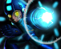 Super Fighting Robot Megaman by DCLzexon